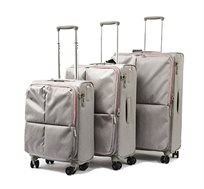 סט מזוודות 3 גדלים Echolac Muse בשני צבעים לבחירה