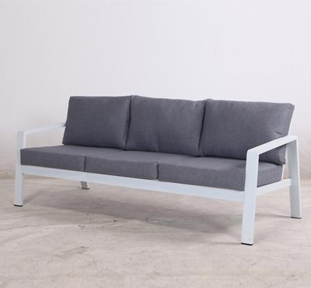 ספה 3 מושבים דגם ונציה בצבעי אפור ולבן