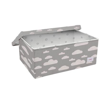 קופסאת אחסון גדולה אפור עננים