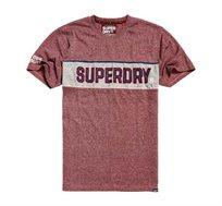 טי שירט RETRO STRIPE BOX FIT SUPERDRY לגברים בצבע אדום מונוכרומטי