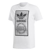 Adidas גברים// Traction In Action Tongue Label Tee White
