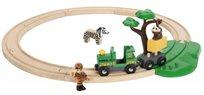 סט רכבת ספארי מעץ 17 חלקים