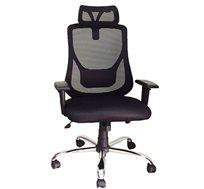 כיסא משרדי לשימוש במשרד ובבית עם כרית ראש דגם רינת