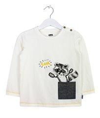 חולצת סינגל עם דפוס