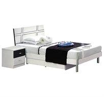 מיטה וחצי מעץ MDF איכותית וחזקה המיועדת לנוער ולילדים, כולל שידה עם שתי מגירות