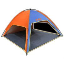 אוהל חוף פתוח ואיכותי עם 3 כיווני אוויר מבית  S-free ltd מתאים לשימוש בים, טיולים וקמפינג