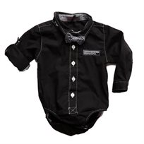 ORO אורו (18 חודשים- 3 שנים) בגד גוף מכופתר שחור