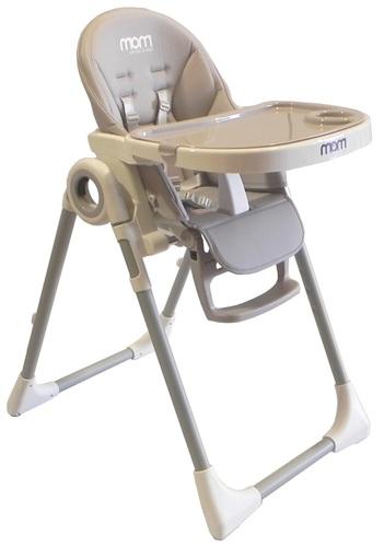 כסא אוכל Q1 בריפוד דמוי עור בצבע אפור