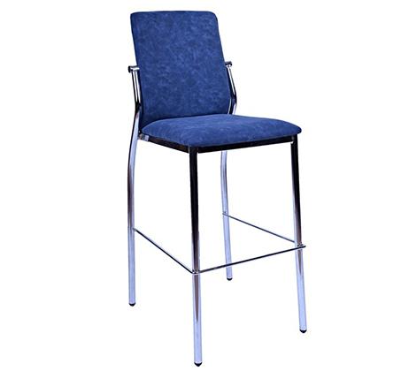 כיסא בר עם משענת מרופד דמוי עור לשימוש במטבח ובחדרי עבודה במגוון צבעים לבחירה - תמונה 2