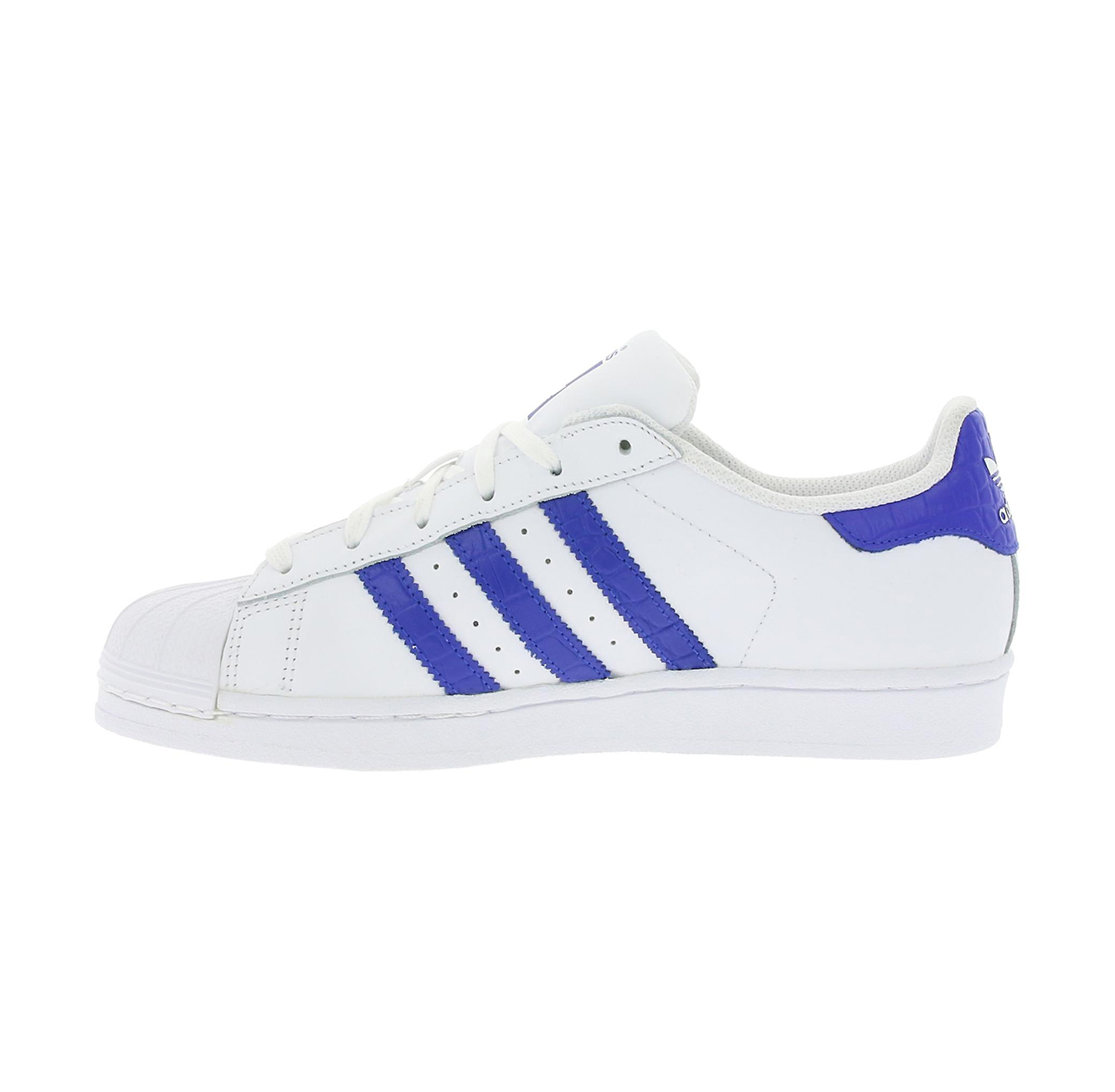 נעליים יוניסקס ADIDAS SUPERSTAR BZ0363 - לבן/כחול