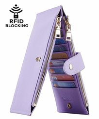 Lambo Wallet Multi Card Case Light Purple