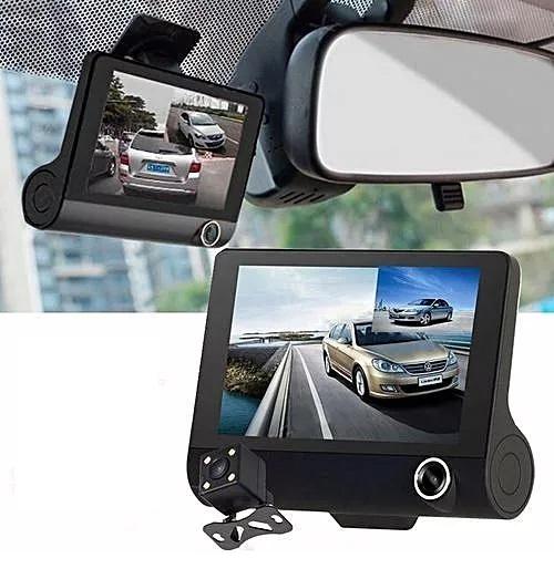 מצלמת דרך לרכב  360 מעלות עם צג ענק 4 אינץ ו- 3 עדשות כולל תפריט הפעלה בעברית מלאה  - משלוח חינם - תמונה 3