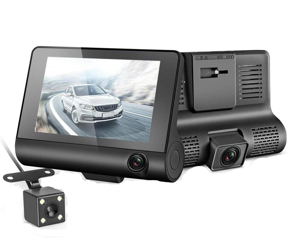 """מצלמת דרך לרכב  360 מעלות עם צג ענק """"4 אינץ  כולל תפריט הפעלה בעברית מלאה"""