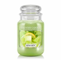 "נר ריחני בצנצנת בניחוח Honeydew תוצרת ארה""ב COUNTRY CANDLE"