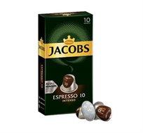 50 קפסולות אלומניום תואמות נספרסו JACOBS דגם INTENSO דרגת חוזק 10