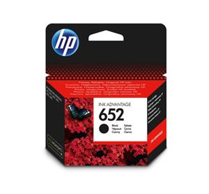 ראש דיו מקורי HP 652 צבע שחור