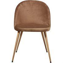 סט של 4 כיסא לפינת אוכל קטיפה Scandi - חום - משלוח חינם