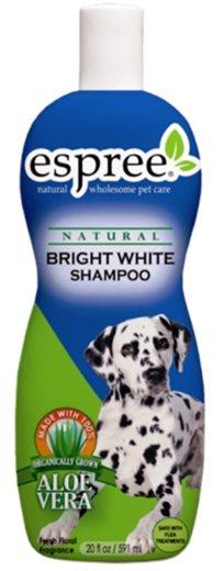 שמפו אספרי לכלב בעל פרווה לבנה - מבהיר, מבריק ושומר על הצבע.
