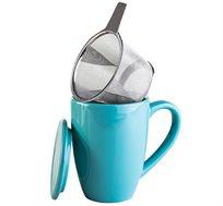 סט 4 ספלים עם מסננת אישית לחליטת תה בעל מכסה לשמירה על חום מבית ARCOSTEEL