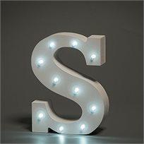 מנורת לילה עם תאורת לד Led מעוצבת בצורת האות S
