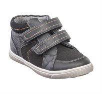נעלי שלושת רבעי לבנים דגם ווסטלי תפרים בצבע שחור