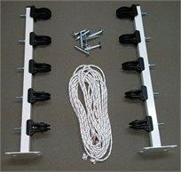 ערכה איכותית ומושלמת לתליית כביסה הכוללת מוטות וחבלים