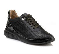 נעלי סניקרס GEOX לנשים D THERAGON C - PR. BUF+SYN.PAT - שחור