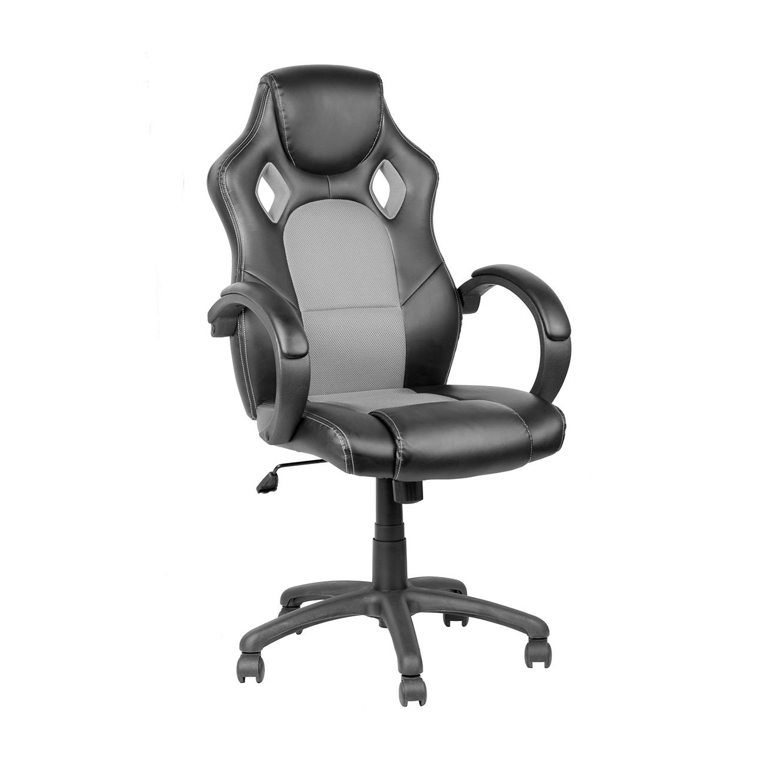 כסא גיימרים בעל גובה מתכוונן בריפוד PVC דגם SILVER STONE במגוון צבעים לבחירה - תמונה 2