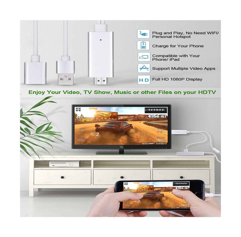 מתאם חכם לחיבור IPHONE/IPAD  לטלוויזיה, מוניטור מחשב, מקרן ועוד בחיבור HDMI  - תמונה 5