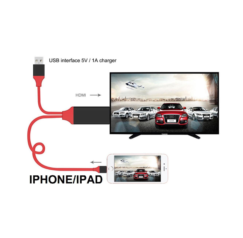 מתאם חכם לחיבור IPHONE/IPAD  לטלוויזיה, מוניטור מחשב, מקרן ועוד בחיבור HDMI  - תמונה 3
