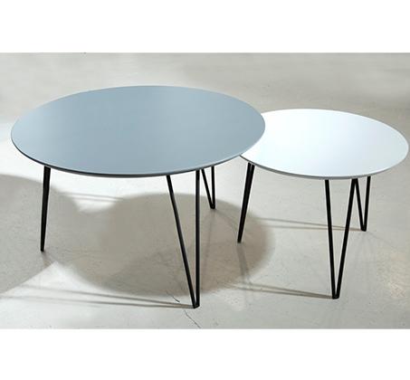 סט 2 שולחנות לסלון עם רגלי מתכת מעוצבות ופלטת עליונה בגוונים לבחירה דגם אורבן VITORIO DIVANI - תמונה 5
