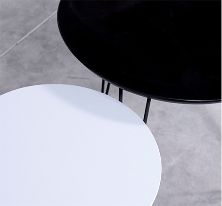 סט 2 שולחנות לסלון עם רגלי מתכת מעוצבות ופלטת עליונה בגוונים לבחירה דגם אורבן VITORIO DIVANI - תמונה 2