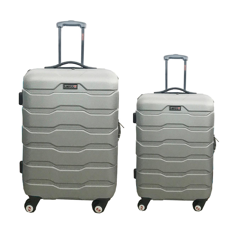 סט מזוודות 2 גדלים Swiss מחומר ABS - צבע לבחירה