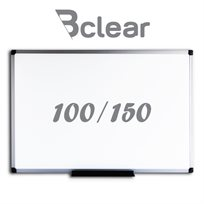 """לוח מחיק מגנטי מסגרת אלומיניום 100/150 ס""""מ Bclear"""