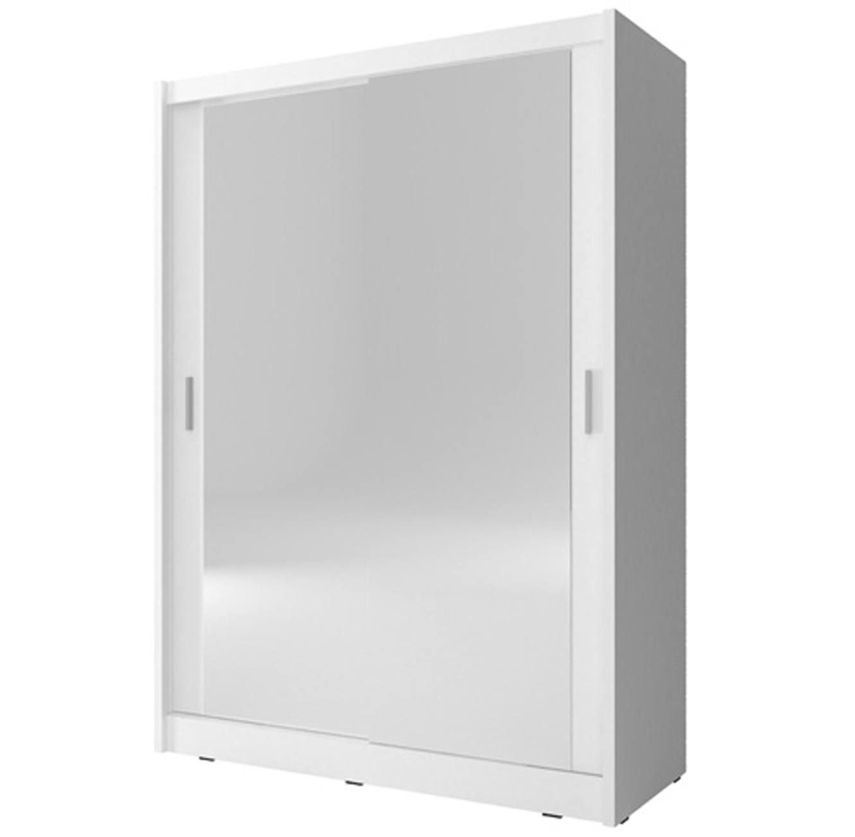 ארון בגדים עם 2 דלתות הזזה בגימור מראה בעל מדפים ומקום לתלייה דגם גלוב HOME DECOR - תמונה 2
