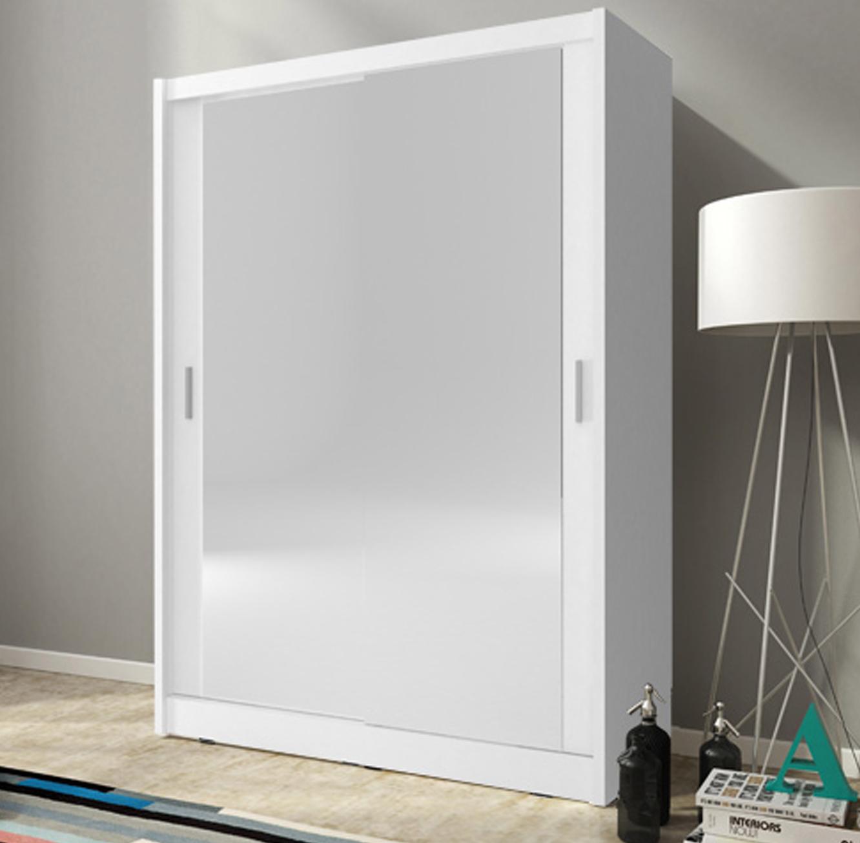 """ארון הזזה 150 ס""""מ עם 2 דלתות מראה דגם GLOBE"""