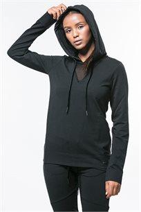 קפוצ'ון ספורט לנשים בצבע שחור