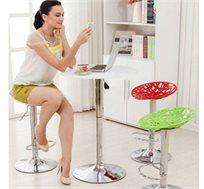 זוג כסאות רשת לבר TAKE IT עם רגלי מתכת בציפוי ניקל