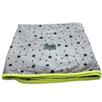 Baby Mitmit שמיכת קיץ ענקית למיטת תינוק - אפור צהוב Galaxy Collection