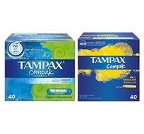 2 מארזי טמפונים Tampax Compak - משלוח חינם!