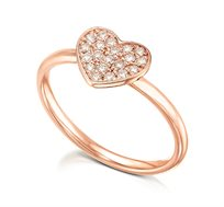טבעת זהב 14K משובצת 20 יהלומים במשקל כולל של 0.18 נקודות