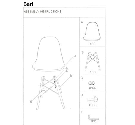 כיסא פלסטיק בעיצוב מודרני וייחודי BARI לפנים הבית ולבחוץ Westin Stock - תמונה 8