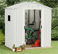 מחסן לחצר עם דלתות הזזה בגודל 2.13X1.91