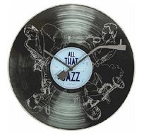 שעון קיר זכוכית ג'אז