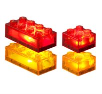 24 קוביות צבעוניות שקופות למשחק LIGHT STAX, תואם גודל קוביות LEGO - משלוח חינם!