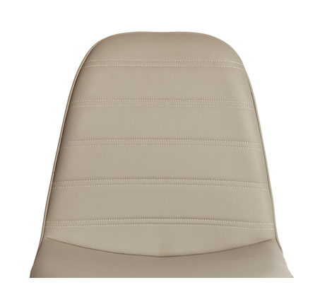 כיסא לפינת אוכל דגם סמוקי פסים ביתילי בעיצוב רטרו בעל ריפוד בד פוליאסטר ורגלי עץ בוק - תמונה 3