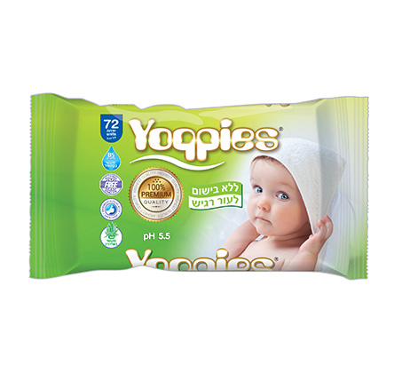 36 חבילות מגבוני Yoppies ללא בישום
