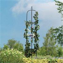 עמוד ייחודי ממתכת לתמיכת צמחים מטפסים לעיצוב הגינה