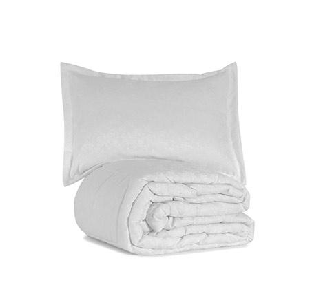 סט כלי מיטה כולל שמיכת פוך יחיד או זוגי וכריות
