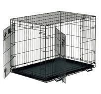 לאלף כלב! כלוב רשת ממתכת לאילוף כלבים, שתי דלתות להכנסה והוצאה קלה של הכלב